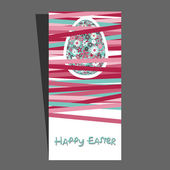 Easter card with flower pattern — Stockvector