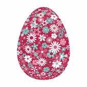 Uovo di pasqua con motivo floreale — Vettoriale Stock