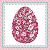 Easter egg with flower pattern — ストックベクタ