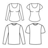 T-shirts design. — Stock Vector