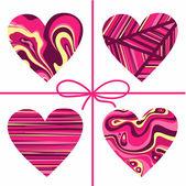 Valentine's hearts set. — Stock Vector