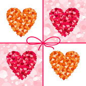 Set cuori di san valentino. — Vettoriale Stock