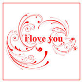 Pink I love you sign — Stock Vector