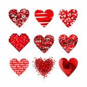 Conjunto de corazones de san valentín. — Vector de stock
