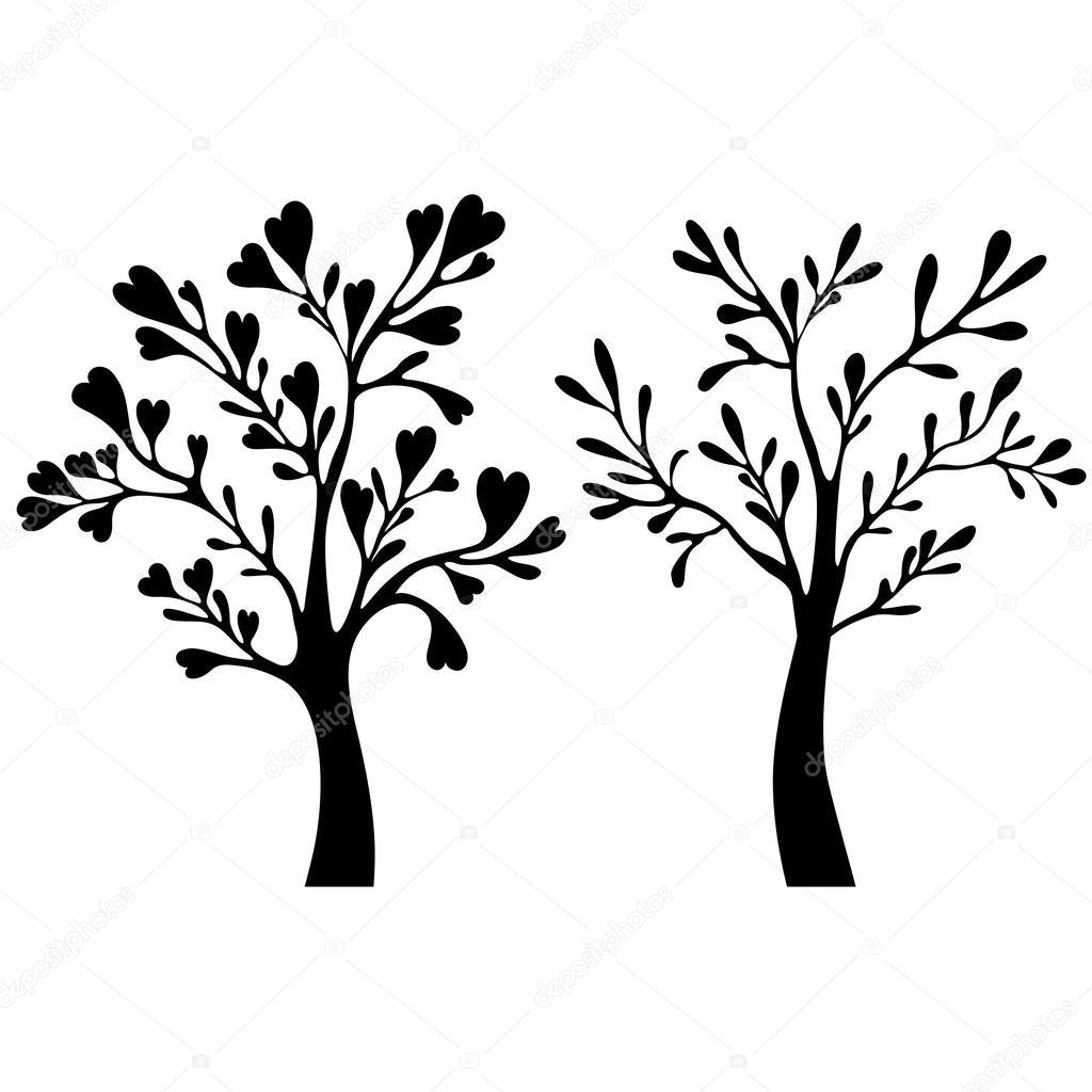 树剪影 — 图库矢量图像08