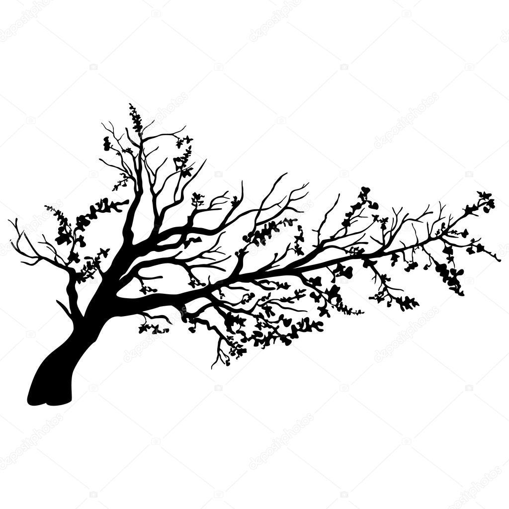 树剪影矢量图《树矢量图素材《卡通树矢量图