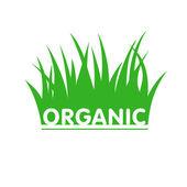 Garden loga wih grass — Stock Vector