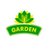 Garden icon with flower — Stock Vector
