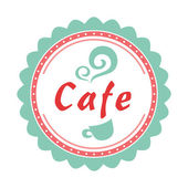 Product label or cafe logo, suitable for desserts — Stock Vector