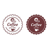 Collection of coffee labels — Stock Vector