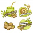 Fruit labels design. Vector pistachios. — Stock Vector #45227783