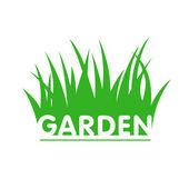 Customizable garden sign — Stock Vector
