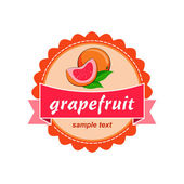 Grapefruit fresh labels design. — Stock Vector