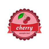 Cherry fresh labels — Stock Vector