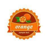 Vector orange. Fruit fresh labels. — Stock Vector