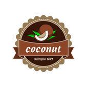Coconut fresh labels. — ストックベクタ