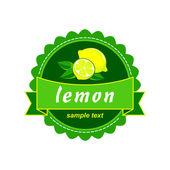 Vector lemon fresh labels — Stock Vector