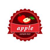 Apple vector label design. — Stock Vector