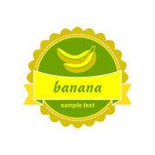 Banana labels design. — Stock Vector