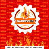 Grill and Barbecue labels and signs — Stock Vector