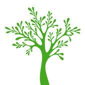 Silhueta de árvores isolada no fundo branco. — Vetor de Stock