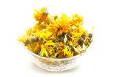 Dried marigold flowers — Stock Photo