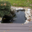 Small artificial pond at site — Stock Photo #13879956