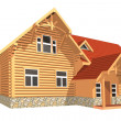 Wooden house — Stock Photo #15644887