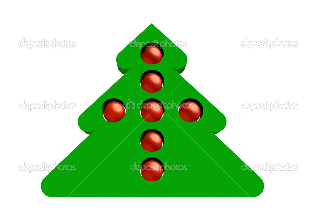 Stylized Christmas tree on a white background — Stock Photo #16761047