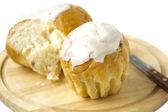 Sweet cupcakes avec glaçage — Photo