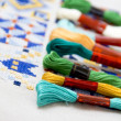 Stock Photo: Embroidery threads for needlework