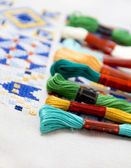 Embroidery threads for needlework — Stock Photo