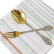 Spoon and fork — Stock Photo