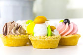 Cake basket with butter cream — Stock Photo