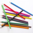Colored pencils on white background — Stock Photo #28675729