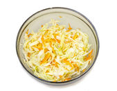 Salad of cabbage and carrots — Stock Photo