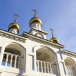 Orthodox bell tower, a fragment — Stock Photo