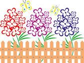 Mooie zomerse landschap met bloemen — Stockfoto