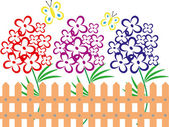 Vacker sommar landskap med blommor — Stockfoto
