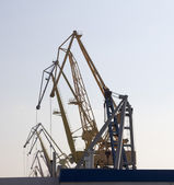 Port cranes against the sky — Stock Photo