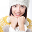 Charming smile face of young girl in sweater — Stock Photo #12683119