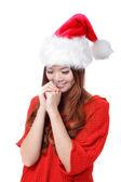 Christmas Beauty Girl make a wish — Stock Photo