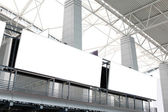 Two huge Blank Billboard in airport — Stock Photo