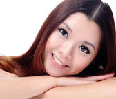 Asian beauty skin care Girl — Stock Photo