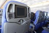 飛行機の座席に液晶モニター — ストック写真