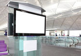 LCD TV at airport — Stock Photo