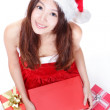 Royalty-Free Stock Photo: Christmas girl getting Xmas gift