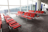Waiting area in the airport gate — Stock Photo