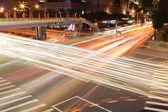 Calle en la noche de la ciudad de taipei — Foto de Stock