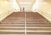 Stairs at a metro railway station — Stock Photo